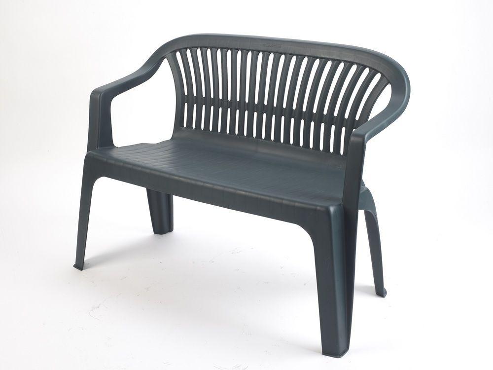 Plastová lavica DIVA - zelená, 114 x 82 x 55 cm