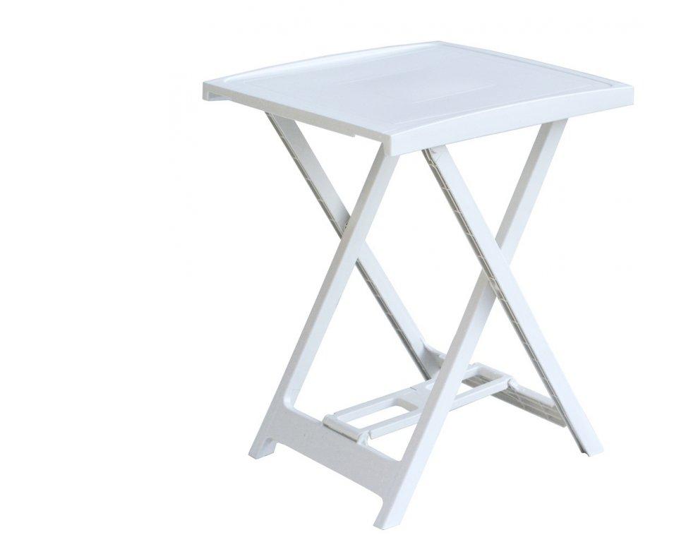 Plastový stolík ARNO - biely, 65 x 50 x 47 cm