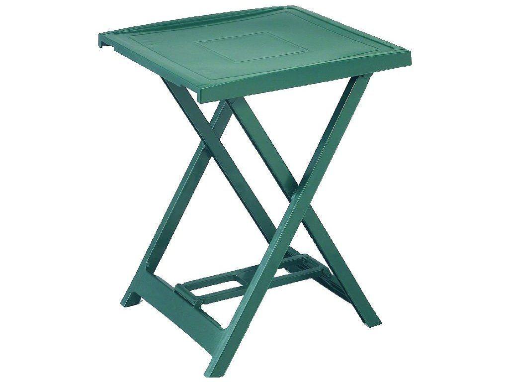 Plastový stolík ARNO - zelený, 65 x 50 x 47 cm