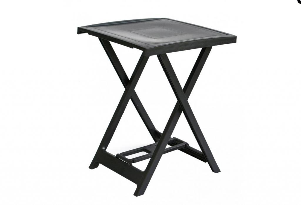 Plastový stolík ARNO - grafit, 65 x 50 x 47 cm