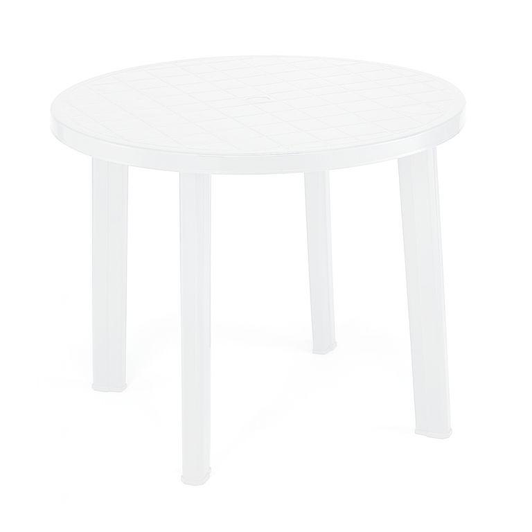 Záhradný stôl TONDO - biely