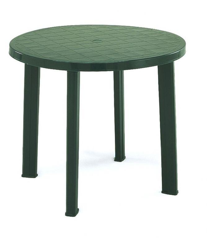 Plastový stôl TONDO - zelený