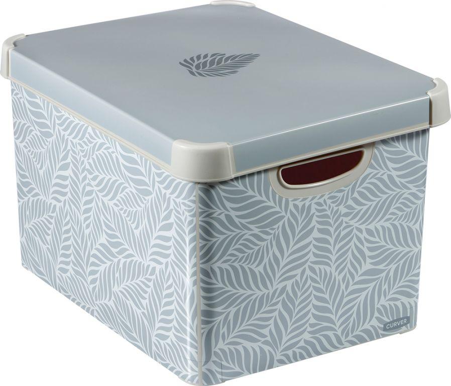 Úložný box s vekom CURVER - lístky, veľkosť L